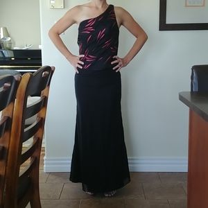 One strap formal dress